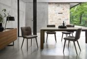 Moderné jedálenské stoličky kožené,orech, dub
