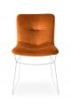 Novinka - Luxusná jedálenská stolička v zamatovej látke