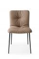 Luxusná stolička do jedálene, kožená prešívaná