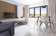 Dizajn  modernej obývačky s biokrbom I PRUNUS kuchyne interiéry