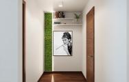 Dizajnový , elegantný interiér chodby apartmánu v Panorama City