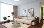 Dizajnový , elegantný interiér obývačky apartmánu v Panorama City