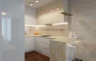 Elegantný, eklektický interiér kuchyne v Panorama City