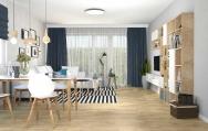 Moderný severský interiérový dizajn  obývačky