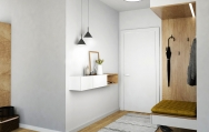 Škandinávsky interiérový dizajn vstupu
