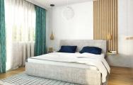 Škandinávsky interiérový dizajn spálne
