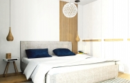 Severský moderný  interiérový dizajn spálne