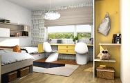 Detská izba pre 2 deti návrh