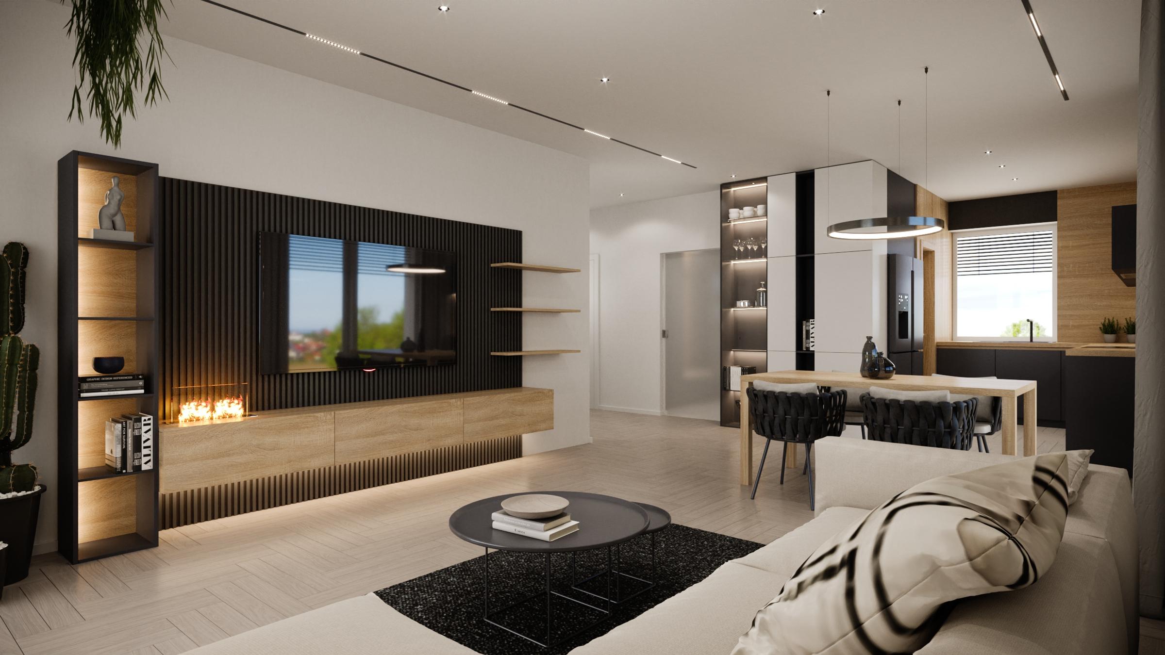 Interierový dizajn domu na mieru